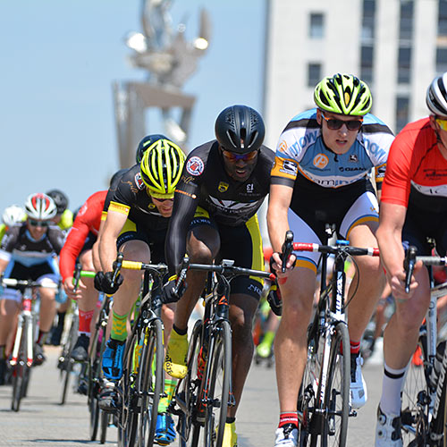Criterium Cyclists Racing